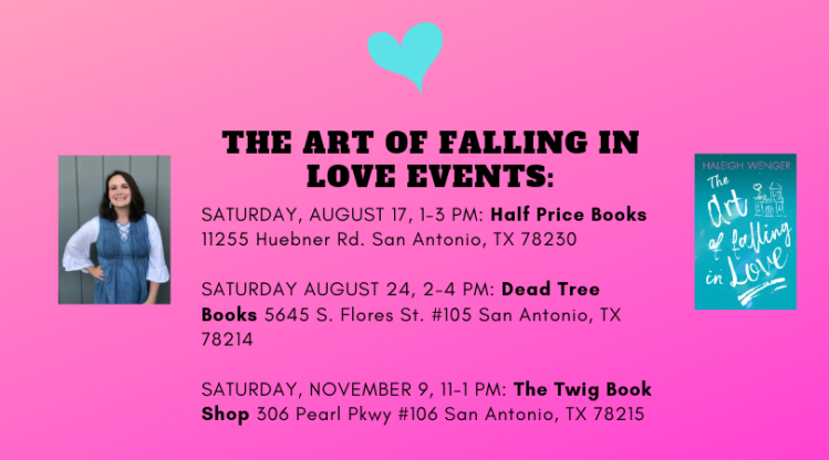 THE ART OF FALLING IN LOVE EVENTS_